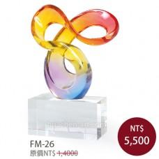 FM-26  造形水晶獎盃
