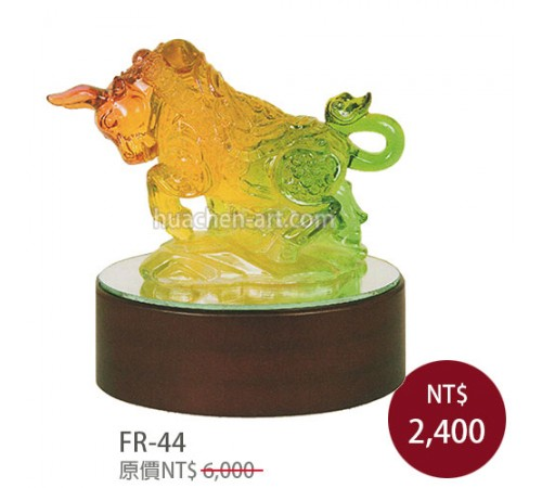 FR-44琉璃雕塑 牛轉乾坤