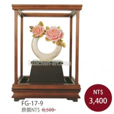 FG-17-9 花開富貴玻璃櫥