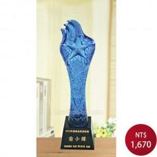 C619-C 黑晶琉璃獎盃