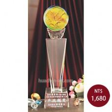 C672-A琉璃水晶獎座