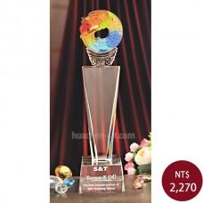 C672-C 中柱水晶 獨占鰲頭獎盃