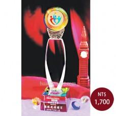 C692-A琉璃水晶獎座