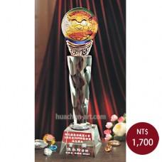 C702-A琉璃水晶獎座(祥獅)