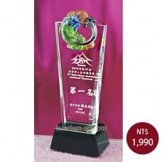 C765B琉璃水晶獎座(大器)