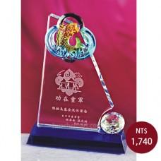 C831水晶琉璃獎牌(年年有餘)