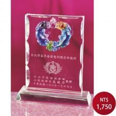 C832水晶琉璃獎牌(雙魚)