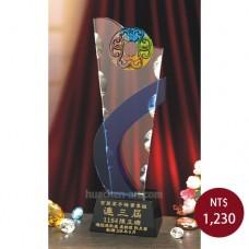 C921-L2琉璃水晶獎座(如意)