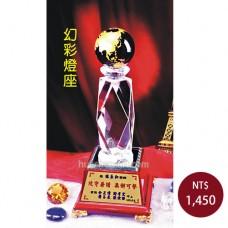 C938A-L水晶獎牌(幻彩燈座)