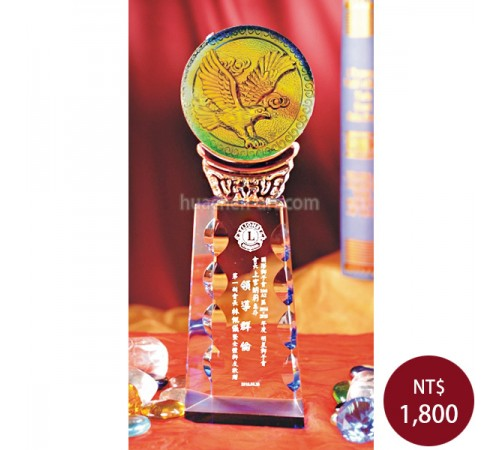 C985-B琉璃水晶獎座