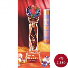 C989琉璃水晶獎座(雙魚)